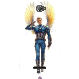 Snooky Printed 976,Captain America wing Mobile Back Cover of Sony Xperia E4 - Multi