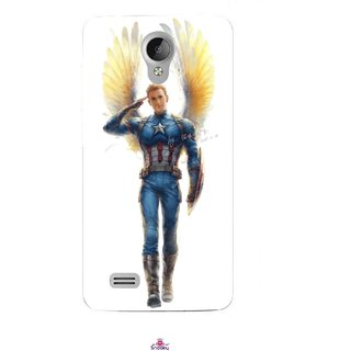 Snooky Printed 976,Captain America wing Mobile Back Cover of Vivo Y21 - Multi