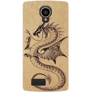 Snooky Printed 978,Chinies Dragon Mobile Back Cover of LYF Flame 7 - Multi