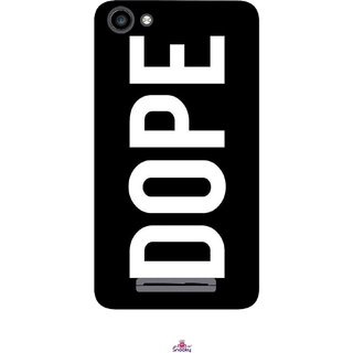 Snooky Printed 956,Black Dope Mobile Back Cover of Micromax Canvas Spark 2 Plus Q350 - Multi