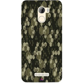 Snooky Printed 972,Camouflage Camo patterns Mobile Back Cover of Gionee A1 Lite - Multi