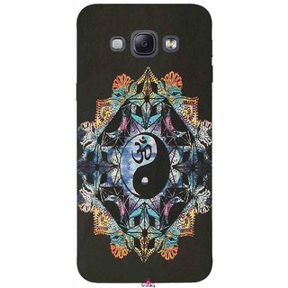 Snooky Printed 1068,Om Lord religious Mobile Back Cover of Samsung Galaxy A8 - Multi