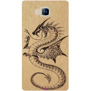 Snooky Printed 978,Chinies Dragon Mobile Back Cover of LYF Wind 2 - Multi
