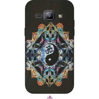 Snooky Printed 1068,Om Lord religious Mobile Back Cover of Samsung Galaxy J1 - Multi