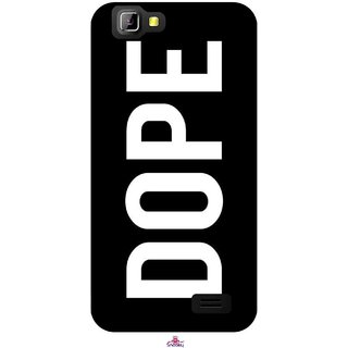 Snooky Printed 956,Black Dope Mobile Back Cover of LYF Wind 5 - Multi