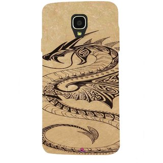 Snooky Printed 978,Chinies Dragon Mobile Back Cover of Micromax Bolt Q325 - Multi