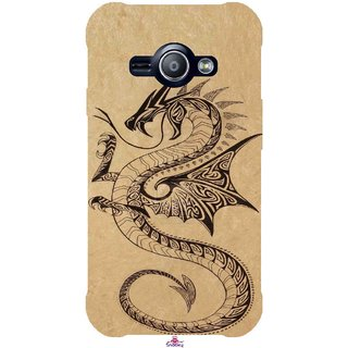 Snooky Printed 978,Chinies Dragon Mobile Back Cover of Samsung Galaxy Ace J1 - Multi