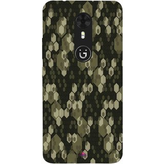 Snooky Printed 972,Camouflage Camo patterns Mobile Back Cover of Gionee A1 - Multi