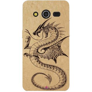 Snooky Printed 978,Chinies Dragon Mobile Back Cover of Samsung Galaxy Core 2 - Multi