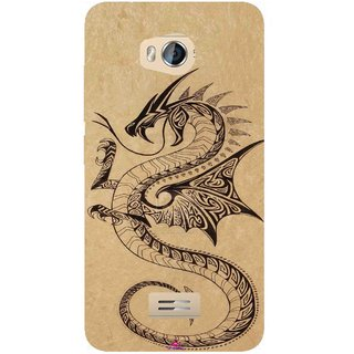 Snooky Printed 978,Chinies Dragon Mobile Back Cover of Micromax Bolt Q336 - Multi