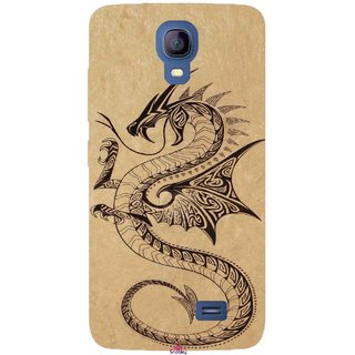 Snooky Printed 978,Chinies Dragon Mobile Back Cover of Micromax Bolt Q383 - Multi