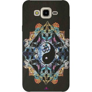 Snooky Printed 1068,Om Lord religious Mobile Back Cover of Samsung Galaxy J7 - Multi