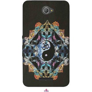 Snooky Printed 1068,Om Lord religious Mobile Back Cover of Sony Xperia E4 - Multi