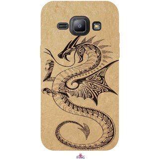 Snooky Printed 978,Chinies Dragon Mobile Back Cover of Samsung Galaxy J1 - Multi