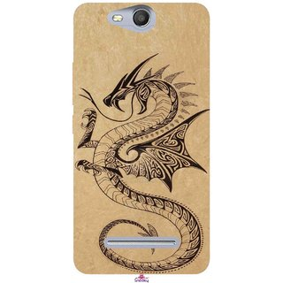 Snooky Printed 978,Chinies Dragon Mobile Back Cover of Micromax Bolt Q392 - Multi