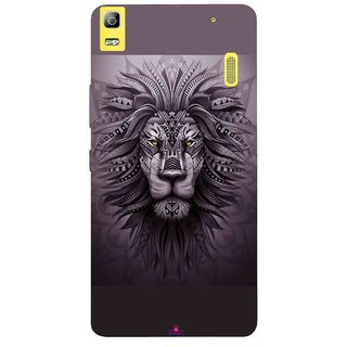 Snooky Printed 1032,lion zion Mobile Back Cover of Lnv A7000 - Multi