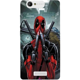 Snooky Printed 982,Deadpool Mobile Back Cover of Gionee M2 - Multi