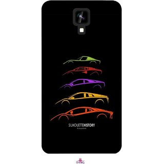 Snooky Printed 1087,silhouette history car Mobile Back Cover of Intex Aqua Y2 1G - Multi