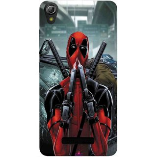 Snooky Printed 982,Deadpool Mobile Back Cover of Gionee Pioneer P6 - Multi