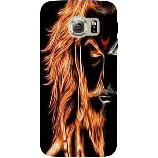 Snooky Printed 1086,shivaji maharaj image 3d Mobile Back Cover of Samsung Galaxy S6 Edge - Multi