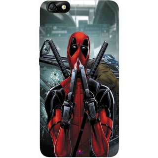 Snooky Printed 982,Deadpool Mobile Back Cover of Huawei Honor 4X - Multi