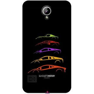 Snooky Printed 1087,silhouette history car Mobile Back Cover of LYF Flame 2 - Multi