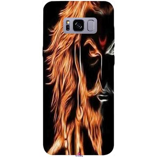Snooky Printed 1086,shivaji maharaj image 3d Mobile Back Cover of Samsung Galaxy S8 - Multi