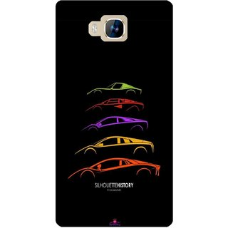 Snooky Printed 1087,silhouette history car Mobile Back Cover of LYF Wind 2 - Multi