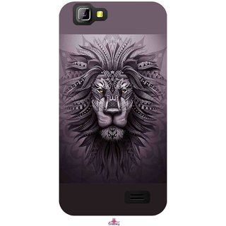 Snooky Printed 1032,lion zion Mobile Back Cover of LYF Wind 5 - Multi