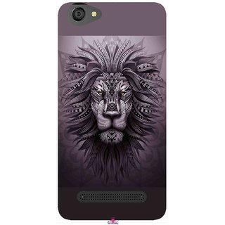 Snooky Printed 1032,lion zion Mobile Back Cover of LYF Wind 6 - Multi