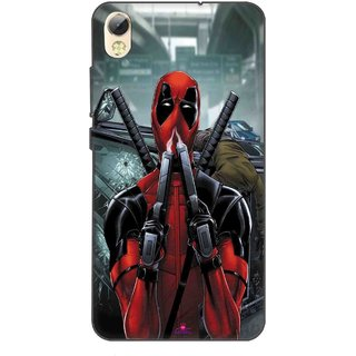 Snooky Printed 982,Deadpool Mobile Back Cover of Tecno I5 Pro - Multi