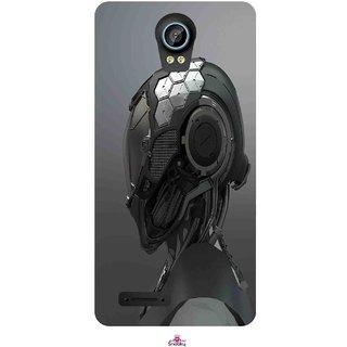 Snooky Printed 999,Futuristic Helmet Mobile Back Cover of Intex Aqua Life 2 - Multi