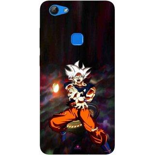 Snooky Printed 1007,Goku Mobile Back Cover of Vvo V7 - Multi