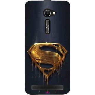 Snooky Printed 1008,Gold Super Man Mobile Back Cover of Asus Zenfone 2 Laser ZE500CL - Multi