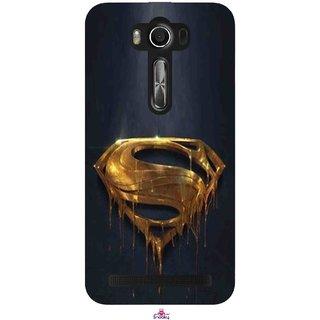 Snooky Printed 1008,Gold Super Man Mobile Back Cover of Asus Zenfone 2 Laser ZE550KL - Multi