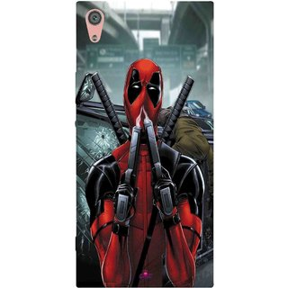 Snooky Printed 982,Deadpool Mobile Back Cover of Xpr Xa1 Ultra Dual Sim - Multi