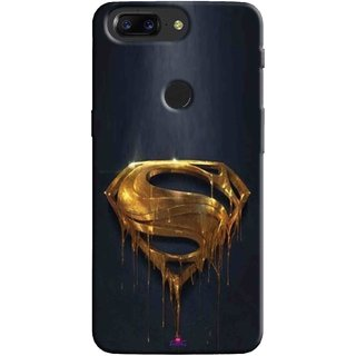 Snooky Printed 1008,Gold Super Man Mobile Back Cover of OnePlus 5T - Multi