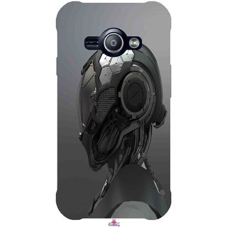 Snooky Printed 999,Futuristic Helmet Mobile Back Cover of Samsung Galaxy Ace J1 - Multi