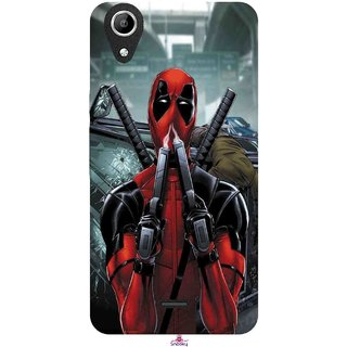 Snooky Printed 982,Deadpool Mobile Back Cover of Micromax Canvas Selfie 2 Q340 - Multi