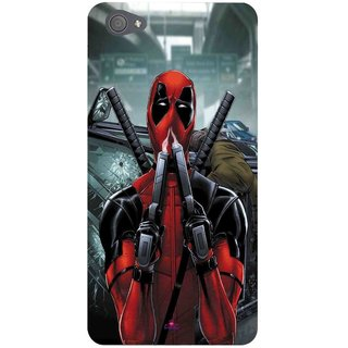 Snooky Printed 982,Deadpool Mobile Back Cover of Vivo X5 Pro - Multi