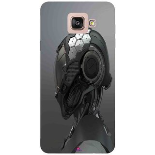 Snooky Printed 999,Futuristic Helmet Mobile Back Cover of Samsung Galaxy A7 2016 - Multi