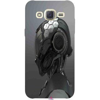 Snooky Printed 999,Futuristic Helmet Mobile Back Cover of Samsung Galaxy J5 - Multi