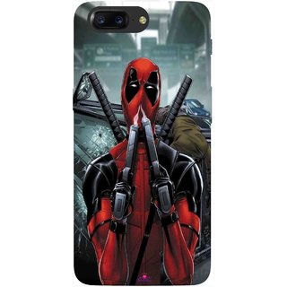 Snooky Printed 982,Deadpool Mobile Back Cover of OnePlus 5 - Multi