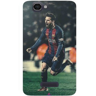 Snooky Printed 1033,lionel messi f edits Mobile Back Cover of Micromax Canvas 2 A120 - Multi