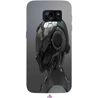 Snooky Printed 999,Futuristic Helmet Mobile Back Cover of Samsung Galaxy S7 - Multi
