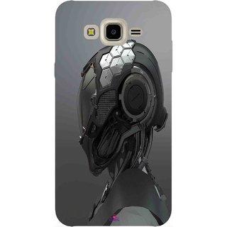 Snooky Printed 999,Futuristic Helmet Mobile Back Cover of Samsung Galaxy J7 - Multi