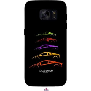 Snooky Printed 1087,silhouette history car Mobile Back Cover of Samsung Galaxy S7 - Multi