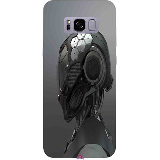 Snooky Printed 999,Futuristic Helmet Mobile Back Cover of Samsung Galaxy S8 - Multi