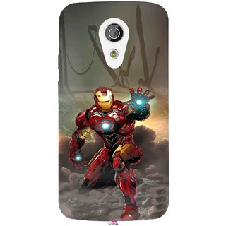 Snooky Printed 1020,Iron Man Power Mobile Back Cover of Moto G2 - Multi