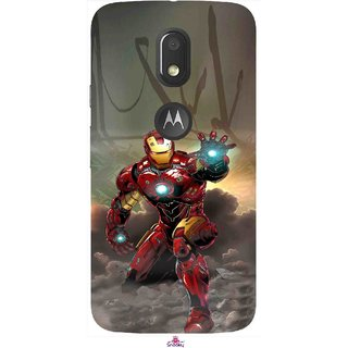 Snooky Printed 1020,Iron Man Power Mobile Back Cover of Motorola Moto E3 - Multi